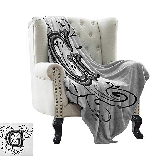Anyangeight Blankets Scarf King,Hand Drawn Crowned Skull Cranium with Coronet Tiara Halloween Themed Image, Golden and Pale Grey 62