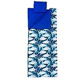 Wildkin Original Sleeping Pillowcase and Storage Bag, Premium Cotton and Microfiber Blend Exterior, Ages 5-12, Olive Kids Design, Sharks