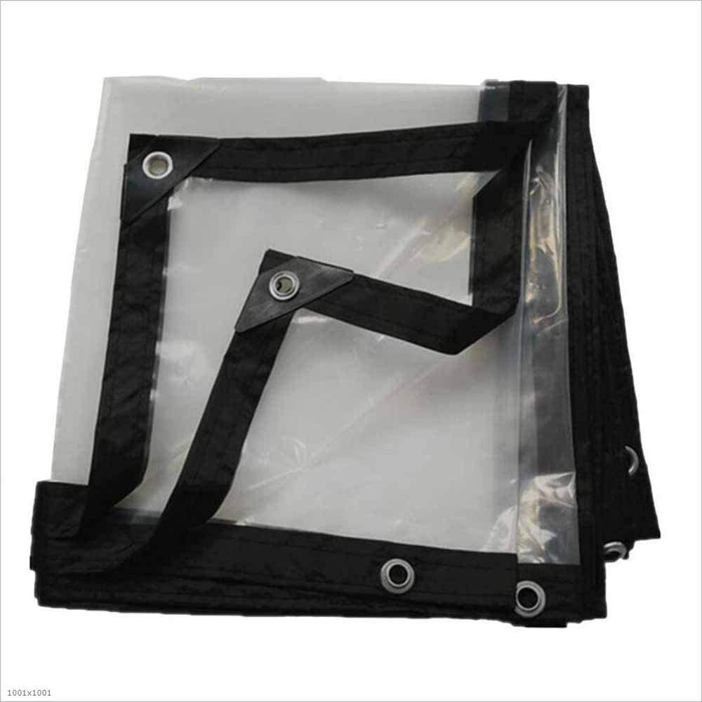 SZ JIAOJIAO Toldo Transparente Engrosamiento Borde Perforado Plástico Impermeable