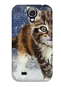 Galaxy S4 Case Cover - Slim Fit Tpu Protector Shock Absorbent Case (painting)
