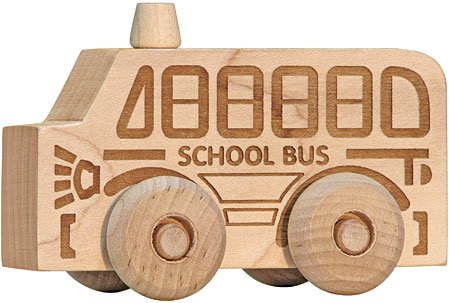 Natural Maple School Bus Scoot - Schoolhouse Naturals