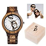 Personalized Customized Wooden Watch for Men Photo...