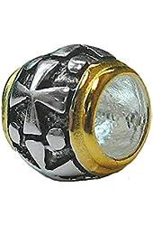 Zable Sterling Silver Cross Barrel Bead / Charm
