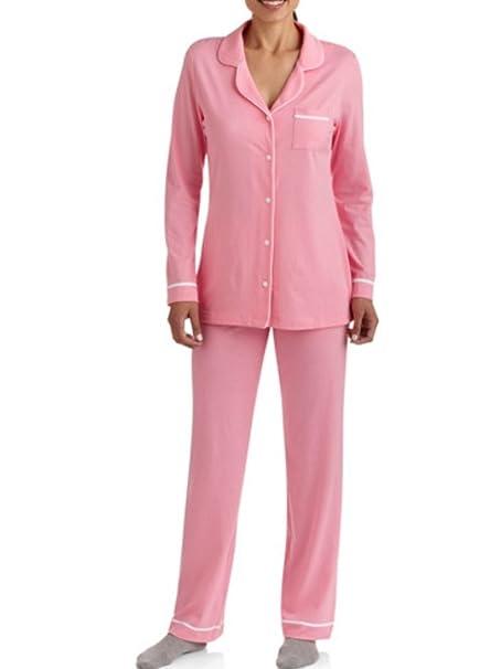 Amazon.com: Valentines Womens Rosa Collar con muescas botón ...