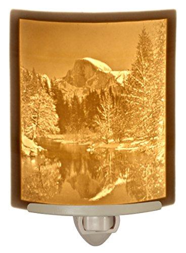 Half Dome At Yosemite- Curved Porcelain Lithophane Night Light - Night Lithophane Light