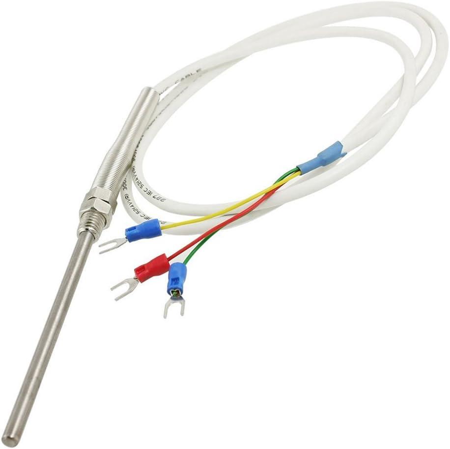RTD Pt100/de acero inoxidable Sonda de temperatura termopar con 2/m Cable 3/hilos exing termopar sonda de temperatura