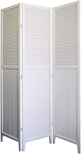 ORE Furniture International Shutter Door 3-Panel Room Divider, White