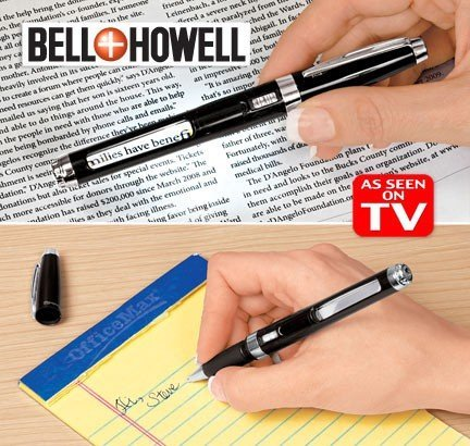 Bell & Howell 962642 Knighthawk Light Pen with Lighted LED Magnifier, 6.3 x 2.2-Inch