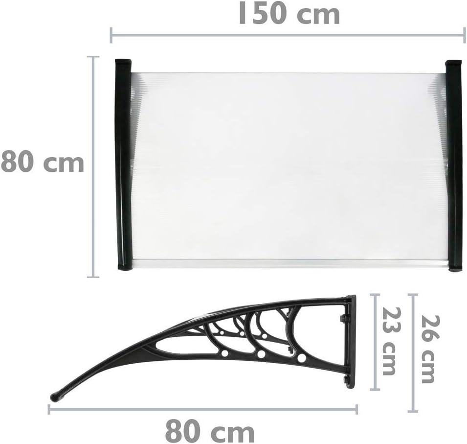 policarbonato para exteriores cubierta de ventana frontal vidaXL Toldo para patio de 238,8 x 99,1 cm