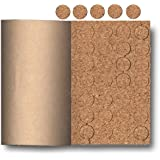 Cork Pads With Adhesive Back Keeps Objects From Sliding and Protects Surfaces (Pkg/2,000)