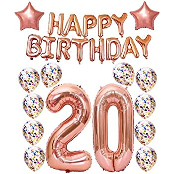 Amazon.com: 20th Birthday Decorations Party Supplies,20th ...