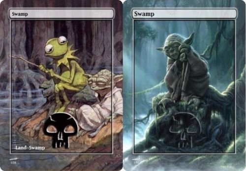Alternate Art Swamp Lands EDH! Magic the Gathering