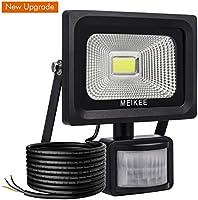 MEIKEE Projecteur LED détecteur de mouvement, 10W 1000LM eclairage exterieur led avec detecteur IP66 Eclairage de sécurité idéal pour éclairage public, garage, couloir, jardin, etc