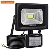 MEIKEE Security Lights with Motion Sensor, 10w Waterproof IP66 Led Sensor Outdoor Light, High Output 1000lumen Super Bright LED PIR Floodlight, 60w Halogen Lights Equivalent Replacement, Ideal for Garden, Car park, Hotel and Fore