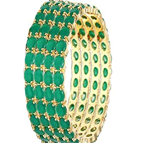 2U Jewels Ruby Stone Ethnic Bangles for Women & Girls (Green, 2.4) (B085B8H2L8) Amazon Price History, Amazon Price Tracker
