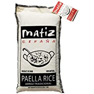 Matiz Valenciano Paella Rice from Spain (2 pack - 2.2 lbs. each) Traditional Spanish Medium-Grain | Risotto, Arrow Negro, Seafood Dishes | Natural Flavor | Soy and Gluten Free
