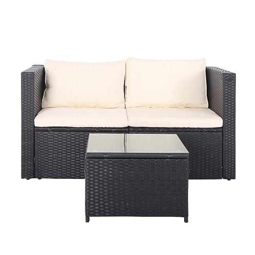 United Flame - Juego de sofás de 3 piezas para exteriores ...