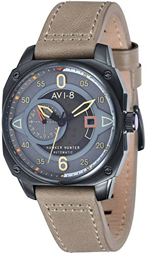 AVI-8 Mens Hawker Hunter Watch - Grey/Beige