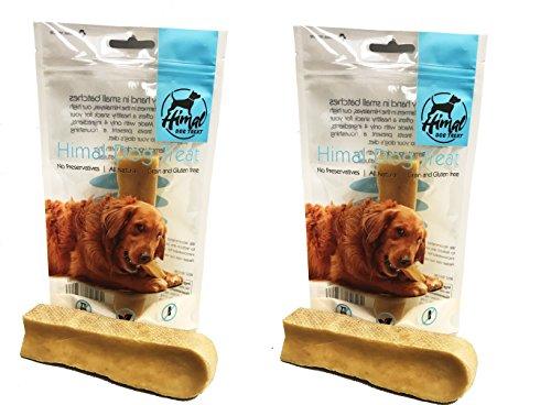 Himal Dog Treat , 100% Natural Yak Chew (Large / 2 Pack)