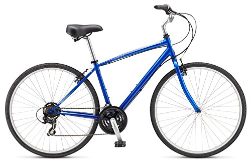 Schwinn Men's Voyager 3 700C Wheel Hybrid Bicycle, Cobalt, 16″/Small