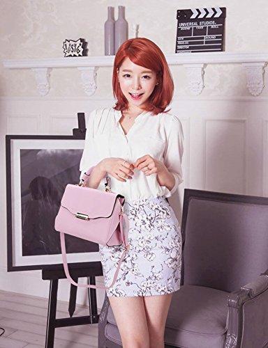 YipGrace Nuovo Donna Pelle Sacchetto Di Frizioni Borse Borse A Tracolla Trasversale Del Corpo Wristlets Pink