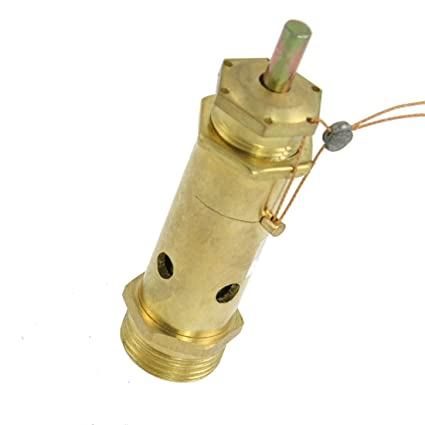 """Sourcingmap a12020900ux0117 - De metal de 3/4""""válvula de alivio de presión con"""