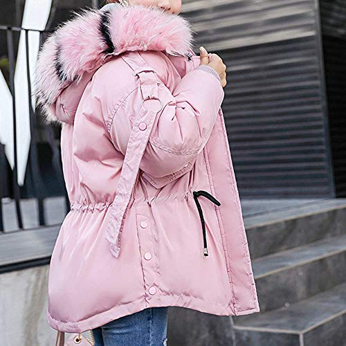 Hooded Padded Warm Coat Pink Cotton Winter Women Jacket HUHU833 Thick Slim Outerwear qZwFXznx