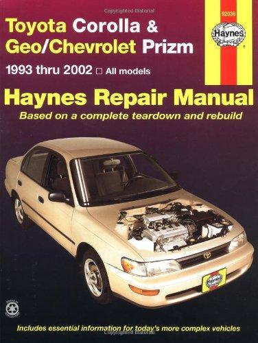 Toyota Corolla & Geo/Chevrolet Prizm Automotive Repair Manual
