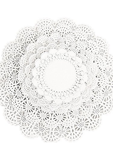 150 Paper Lace Doilies Variety Pack 30 each of 4, 5, 6, 8, a