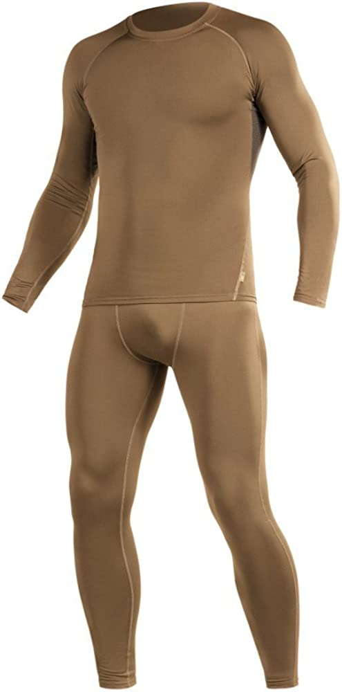 M-Tac Thermal Underwear Set for Men Base Layer Fleece Lined Top & Bottom Ultra-Soft