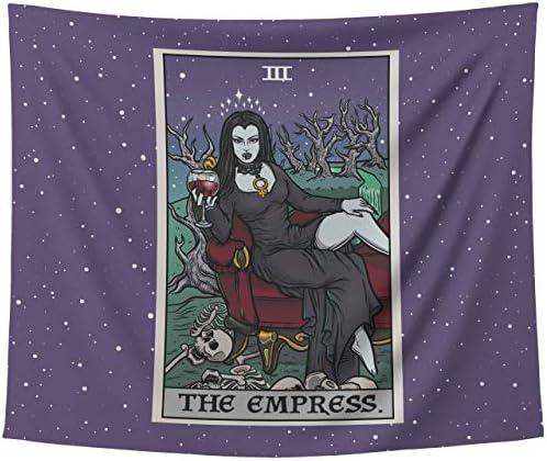 The Empress Tarot Card Tapestry Halloween Home Decor Gothic Vampiress Wall Art Goth Wall Hanging 80 x 68