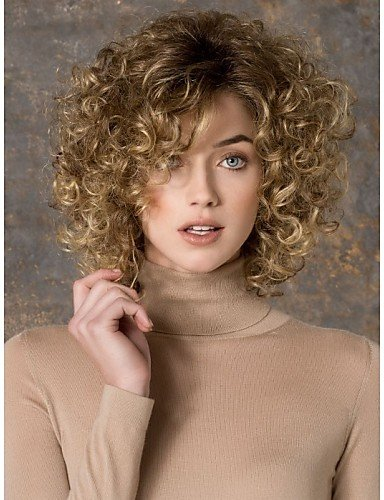 [Wigs have an attractive convenience fashion Popular Cosplay Wig Party Wig Blonde Cartoon Wig Super Short Curly Animated Synthetic Hair] (Indian Mens Braid Adult Wig)