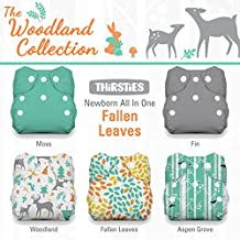 Thirsties Package-Snap Newborn All in One-Woodland Collection, Fallen Leaves