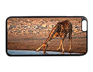 iPhone 6 Plus Case - Drinking Giraffe Patterned Protective Skin Hard Case Cover for Apple iPhone 6 Plus 5.5