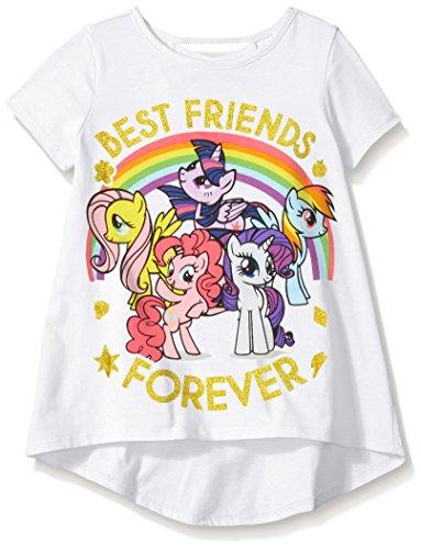 My Little Pony Toddler Girls' Short-Sleeve T-Shirt Fashion Top, White, 5T