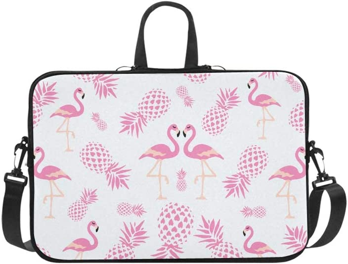 Set Autumn Leaves Cartoon Style Cute Laptop Handbags 14 Laptop Shoulder Bag Messenger Bag Case Notebook Handle Sleeve Neoprene Soft Carring Tablet Travel Case