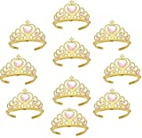 CHTENG 10pc Gold Pink Kids Princess Tiara Crown Set Girl Dress Up Party Accessories 02