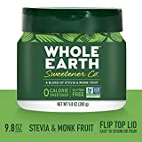 WHOLE EARTH SWEETENER CO. NATURE SWEET Stevia & Monk Fruit Blend, Erythritol Sweetener, Sugar Substitute, Natural Sweetener, 9.8 Ounce Jar