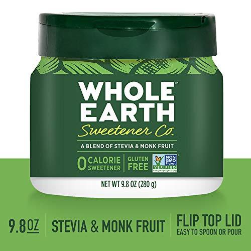 WHOLE EARTH SWEETENER Stevia Monk Fruit Blend Sugar ...