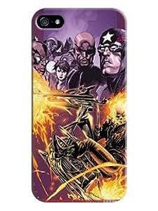 Fashion colorful cute pattern custom tpu hard back skin case cover for iphone5(Marvel Comics Avengers) by Kathleen Kaparski