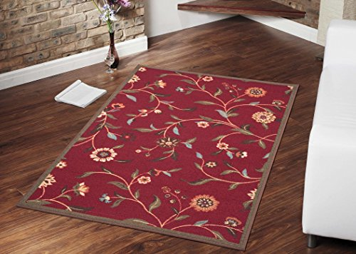 Ottomanson Ottohome Floral Non SkidRubber Backing product image