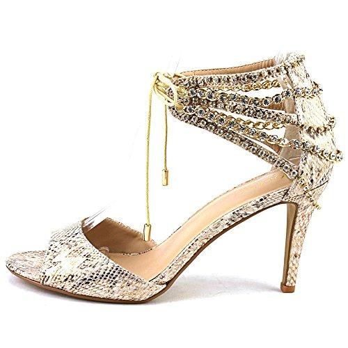 Thalia Sodi Evahly Mujer US 6 Beis Sandalia
