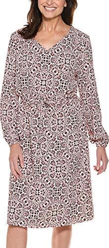 Coolibar UPF 50+ Women's Borghese Dress - Sun Protective (Medium- Red Isle Medallion)