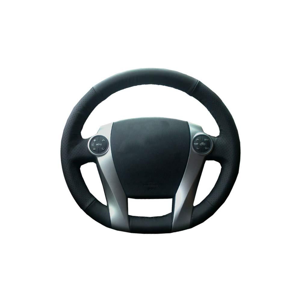 KDKDKLMB Couvre Volant Couvre Volant pour Toyota Prius 2009-2015 Aqua 2014 2015 Couvre Volant sur Mesure