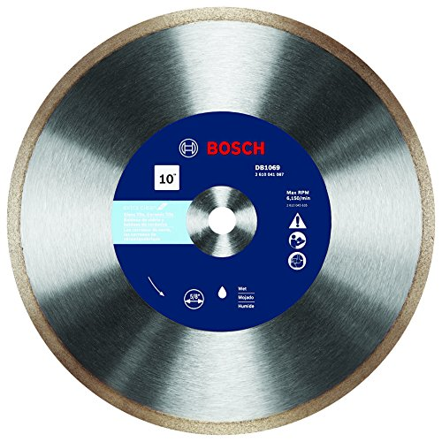 Bosch DB1069 10 In. Rapido Premium Continuous Rim Diamond Blade for Glass (Glass Saw Blade)