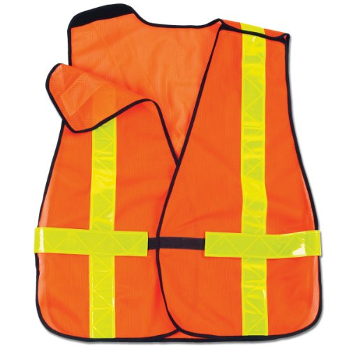 Ergodyne GloWear 8080BAX Hi-Gloss Breakaway Vest with X-Back, Orange ()