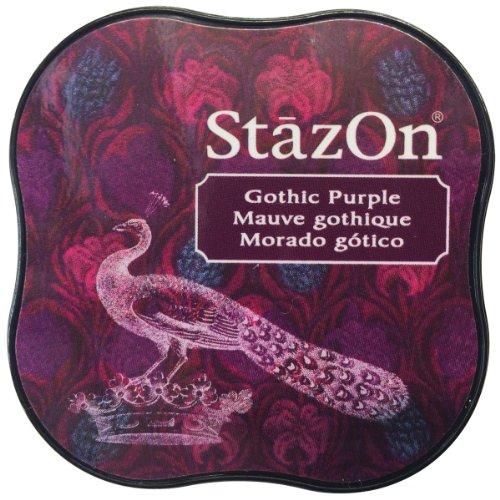(Tsukineko StazOn Midi Ink Pad, Gothic Purple)