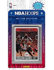 Houston Rockets 2017 2018 Hoops Basketball Factory Sealed NBA Licensed 9 Card Team Set with James Harden and Chris Paul Plus