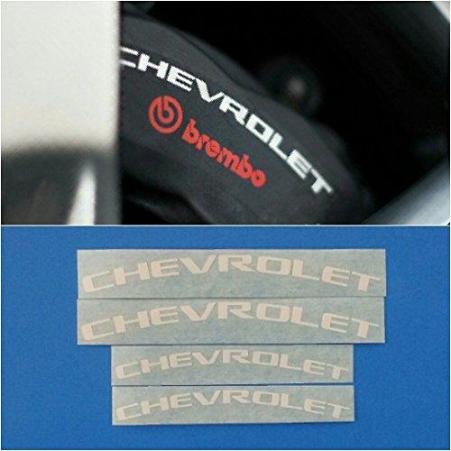 R&G Chevrolet Brake Caliper HIGH TEMP Decal Sticker Set of 4 (White) Chevrolet Caliper