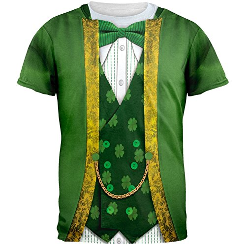 [St. Patricks Day Leprechaun Costume All Over Adult T-Shirt - 2X-Large] (The Music Man Costumes For Sale)